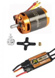 Brushless-Set AL3548-4 & 60A Comet  Regler 1090KV  D-Power
