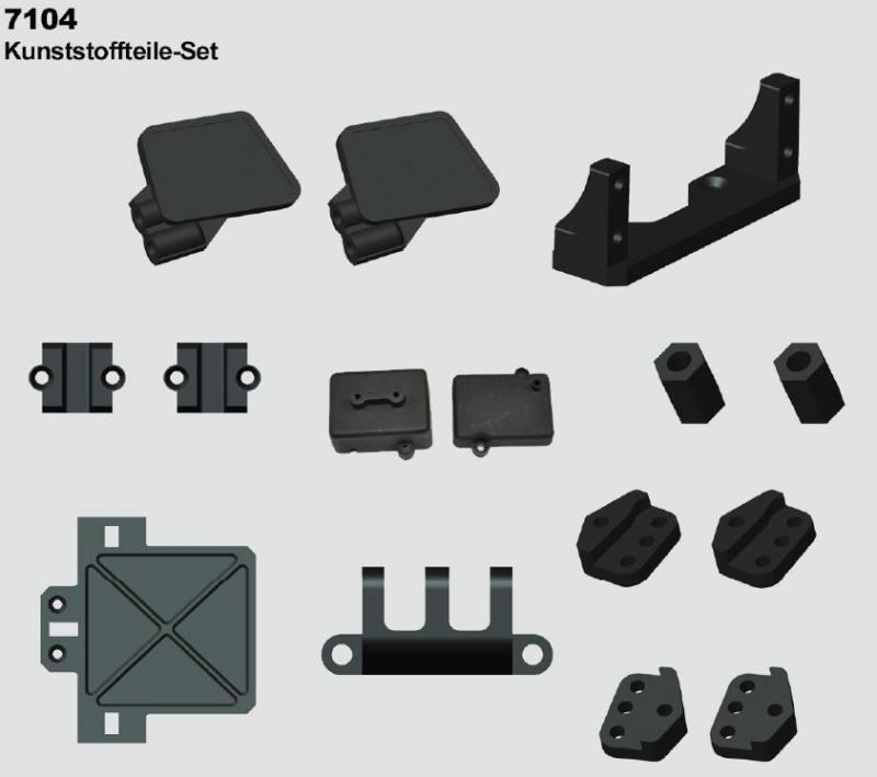 7104 kunststoffteileset crawler xxl original df models. Black Bedroom Furniture Sets. Home Design Ideas